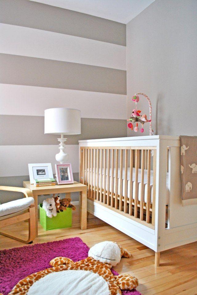 Wand Rosa Streichen Ideen Zeitgenössisch On In Streifen Grau Wohnzimmer Wohndesign 8