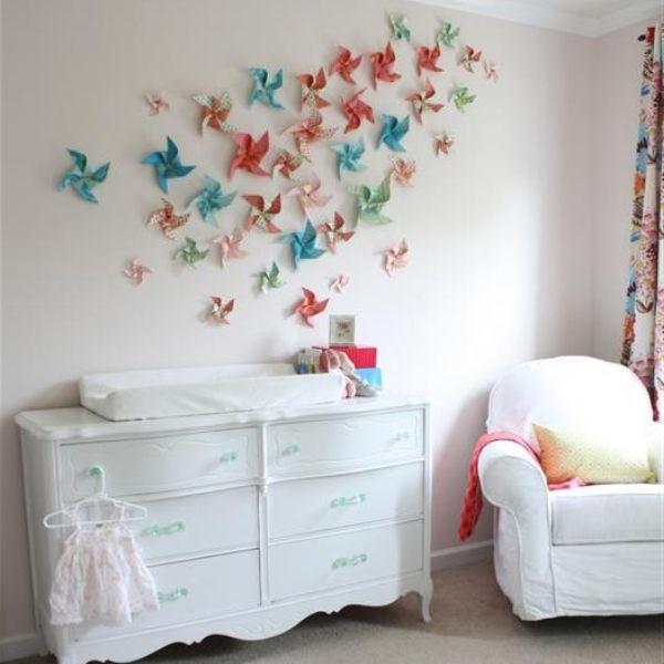 Wanddeko Selber Basteln Glänzend On Andere Mit Wanddekoration Machen Bunte Blumen Aus Papier 6