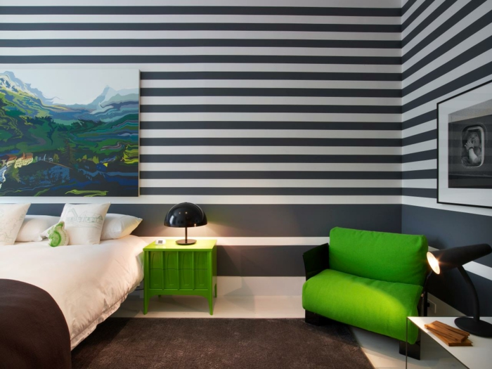 Wanddesign Streifen Ideen Ausgezeichnet On Und Schmuck Wand Designs Mit 5