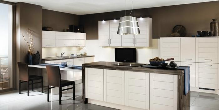 Wandfarbe Braun Küche Kreativ On überall Farben Ideen 30 Für Weiße Küchenmöbel Minimalistisch 9