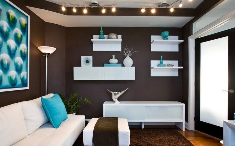 Wandfarbe Braun Weiß Einzigartig On Beabsichtigt Wohnzimmer In Türkis Einrichten 26 Ideen Und 2