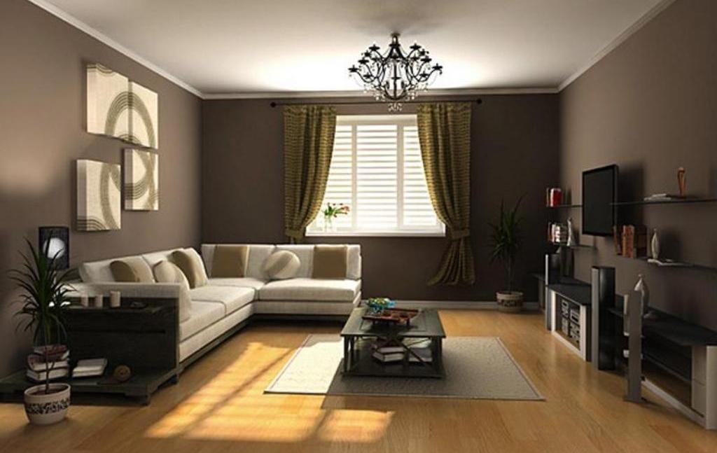 Wandfarbe Braun Weiß
