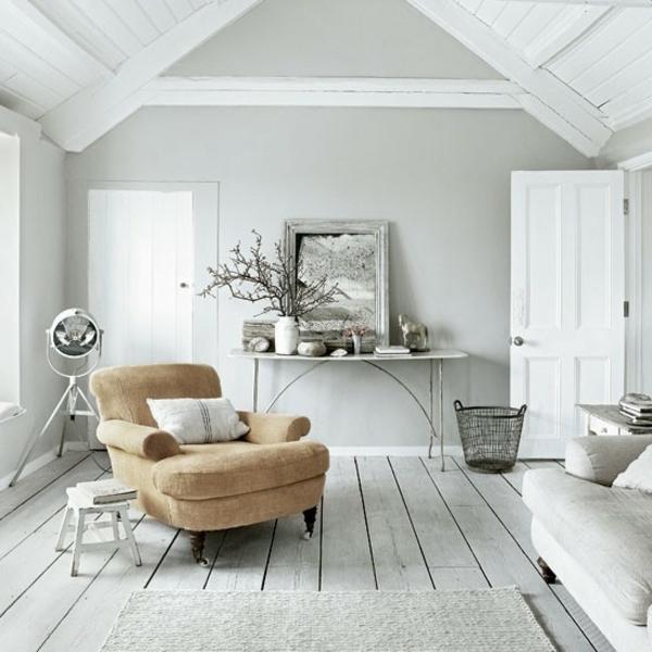 Wandfarbe Grau Beige Herrlich On Beabsichtigt Wohnzimmer Modern Gestalten Spiegel Und Ein 3