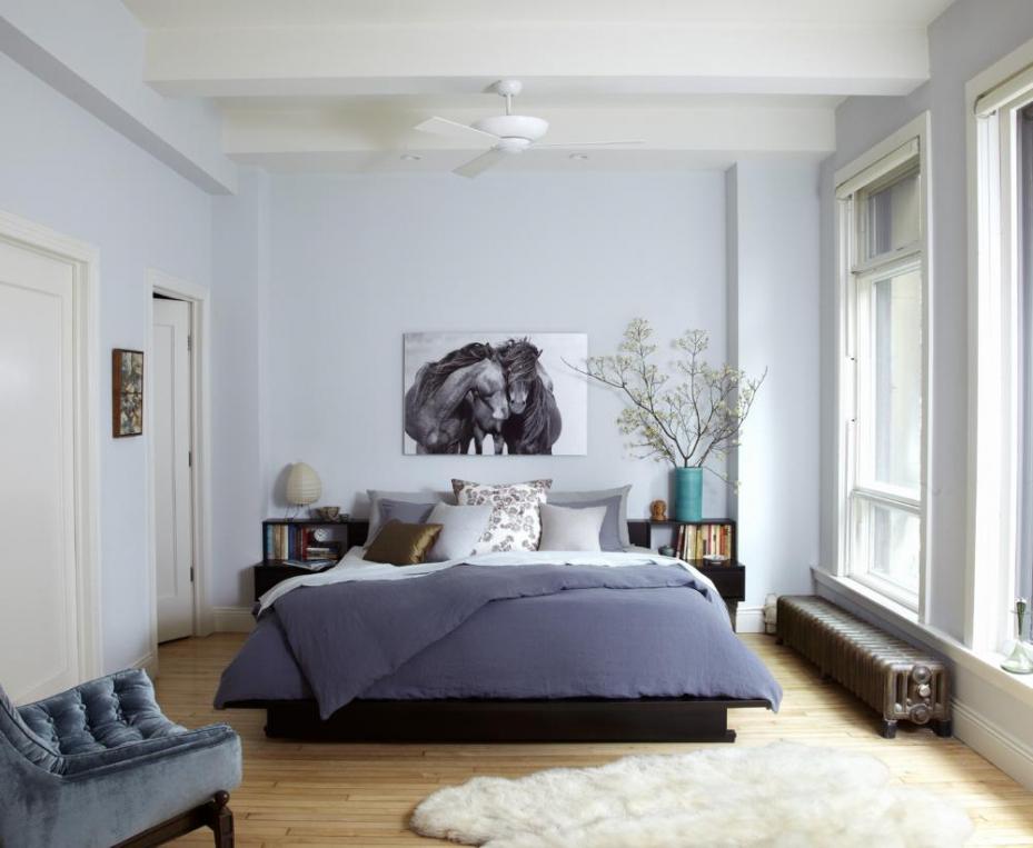 Wandfarbe Wohn Und Schlafzimmer Einfach On Innerhalb Wohndesign Kleines Ideen 1