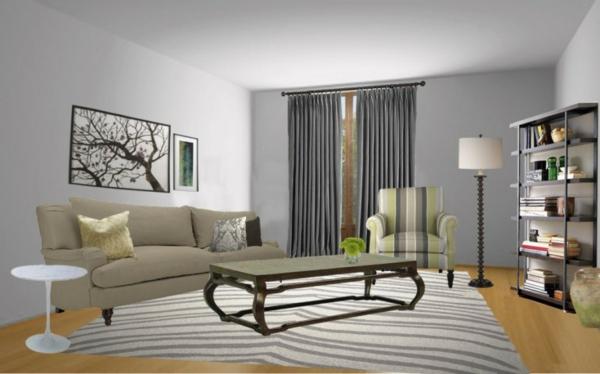 Wandfarbe Wohnzimmer Modern Bemerkenswert On Mit Uncategorized Kleines Farben Ebenfalls 9