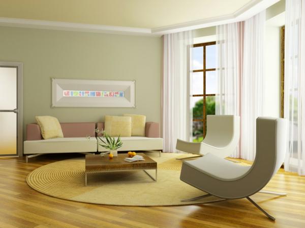 Wandfarbe Wohnzimmer Modern
