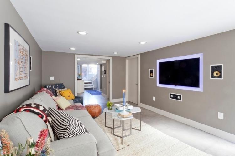 Wandfarbe Wohnzimmer Modern On Auf Taupe Edle Kulisse Für Möbel Und Accessoires Luxus 3