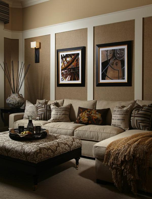 Wandgestaltung Beige Braun Charmant On Und Wohnzimmer Brauntone Ausgezeichnet Farben 6