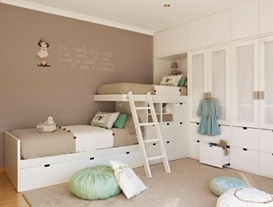 Wandgestaltung Beige Braun Imposing On Beabsichtigt Klassische Mit Babyzimmer 3