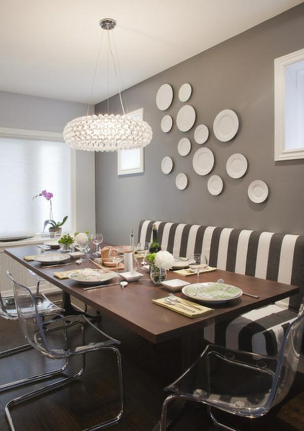 Wandgestaltung Esszimmer Küche Beige Braun Zeitgenössisch On In Matchless Wand 6