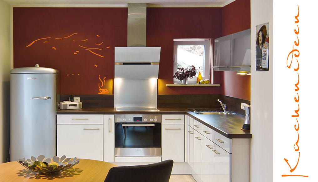 Wandgestaltung Küche Farbe Stilvoll On Andere Auf Arkimco Com 3