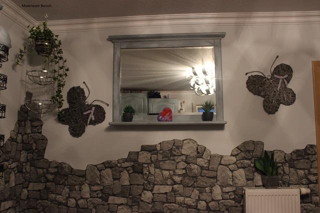 Wandgestaltung Mit Steintapete Exquisit On Andere In Zierlich Wand Designs Auch 1