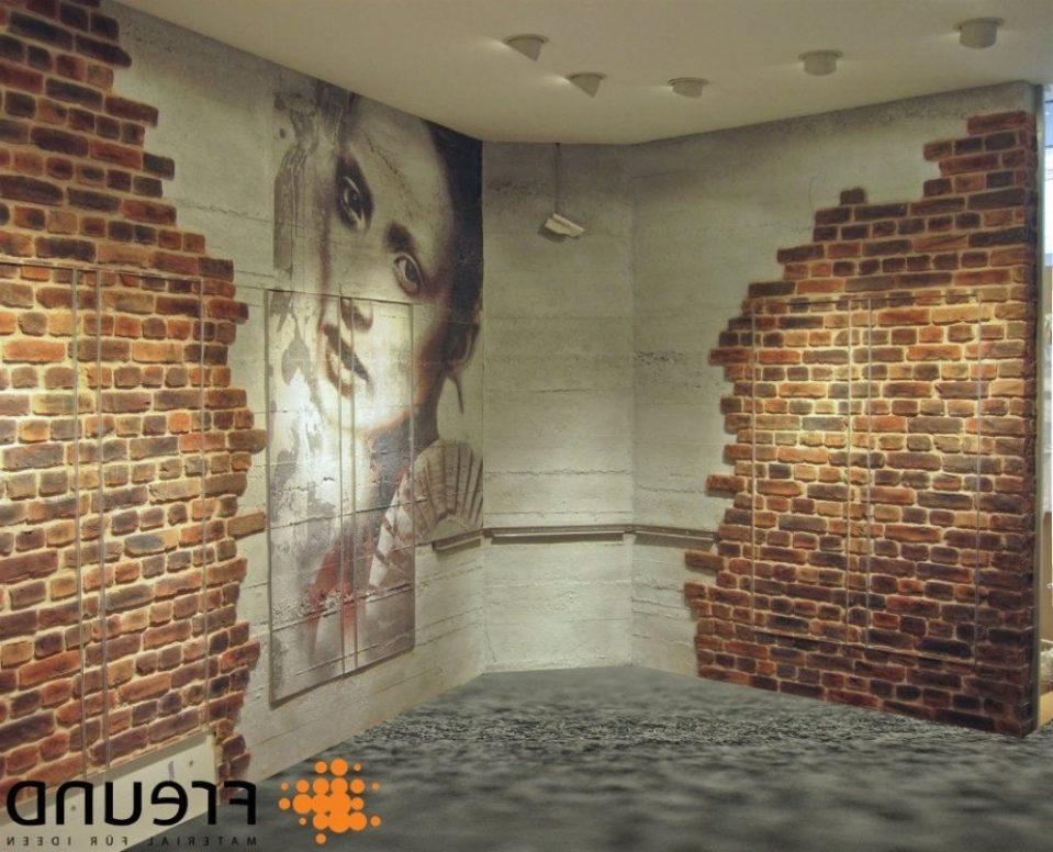 Wandgestaltung Mit Steintapete Stilvoll On Andere In Bezug Auf Uncategorized Geräumiges 3