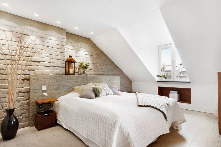 Wandgestaltung Schlafzimmer Dachschräge Großartig On Mit Gestaltung Bequem Auch Moderne Tapeten 4