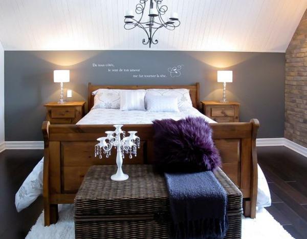 Wandgestaltung Schlafzimmer Dachschräge Interessant On Für Lila Kreative Bilder Zu Hause Design Inspiration 1
