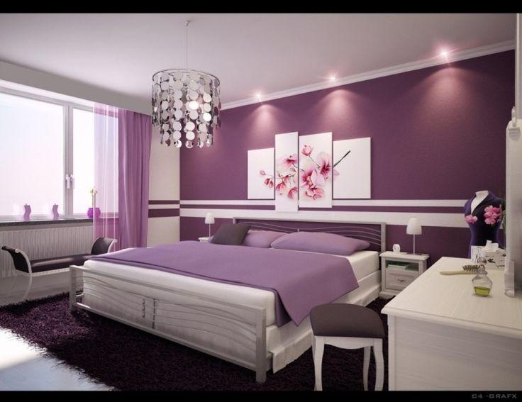 Wandgestaltung Schlafzimmer Streifen