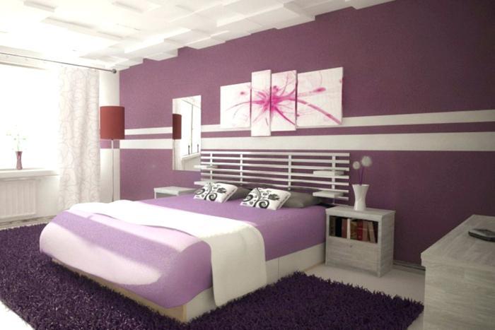 Wandgestaltung Schlafzimmer Streifen Einfach On Mit Farbe 2