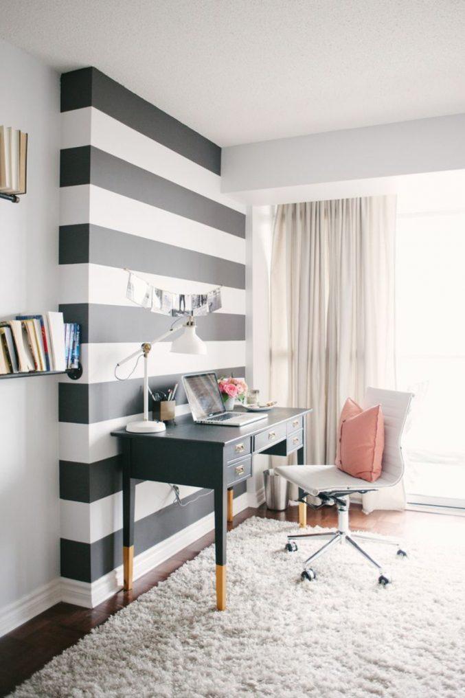 Wandgestaltung Schlafzimmer Streifen Einzigartig On Für Uncategorized Kleines Ideen Und Trendige 9