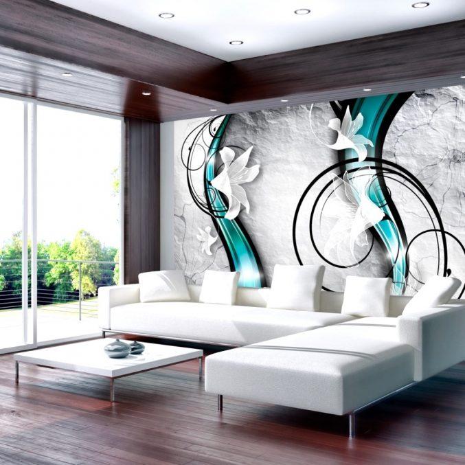 Wandgestaltung Türkis Grau Beige Modern On Mit Gestaltung Verzögert Auf 8