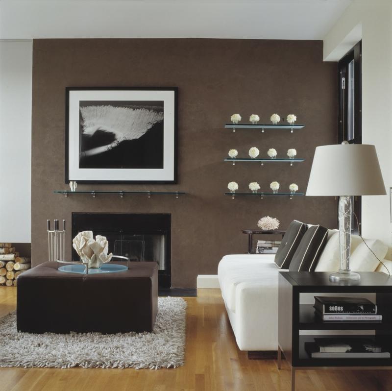 Wandgestaltung Weiß Braun