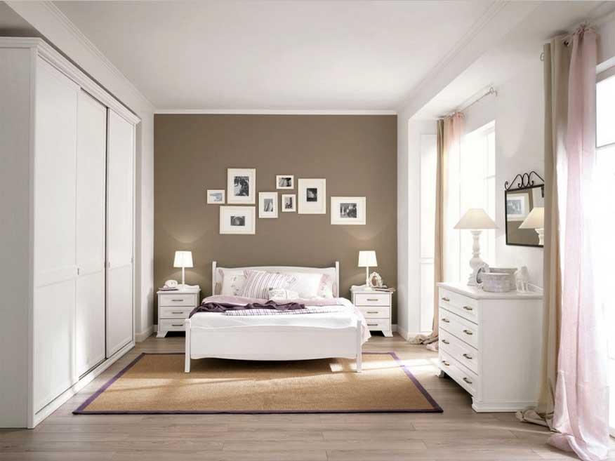 Wandgestaltung Weiß Braun Zeitgenössisch On In Schlafzimmer Weis Verführerisch Ideen 3