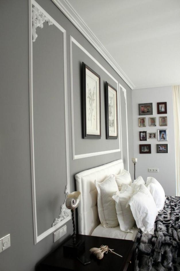 Wandgestaltung Weiß Grau Frisch On Andere Innerhalb Wohnzimmer Ideen 2