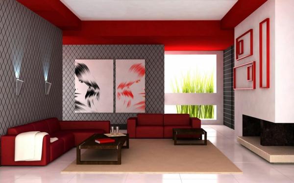 Wandgestaltung Wohnzimmer Grau Rot Beeindruckend On Beabsichtigt Stunning Pictures Ghostwire Us 4