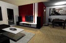 Wandgestaltung Wohnzimmer Grau Rot Beeindruckend On Für Herrenhaus 8