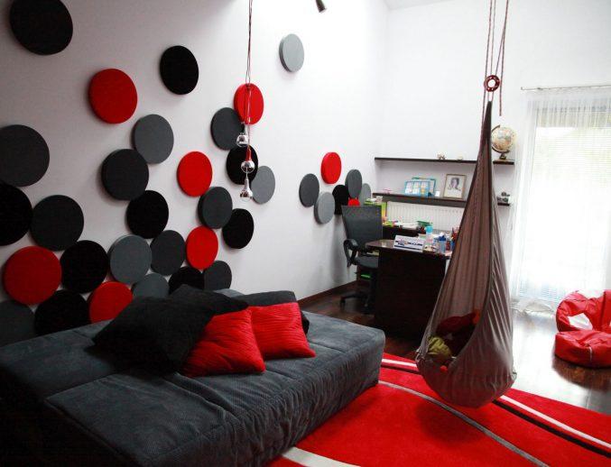 Wandgestaltung Wohnzimmer Grau Rot Glänzend On Für Schwarz Weis Ocaccept Com 7