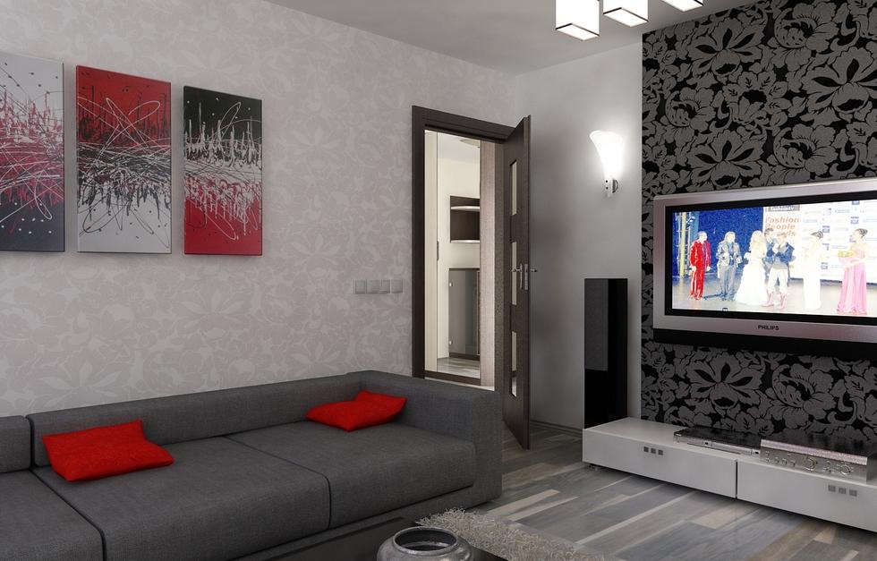 Wandgestaltung Wohnzimmer Grau Rot Imposing On In Bezug Auf Amocasio Com 3