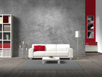 Wandgestaltung Wohnzimmer Grau Rot Modern On In Amazing Outside Tisch For Typ 5