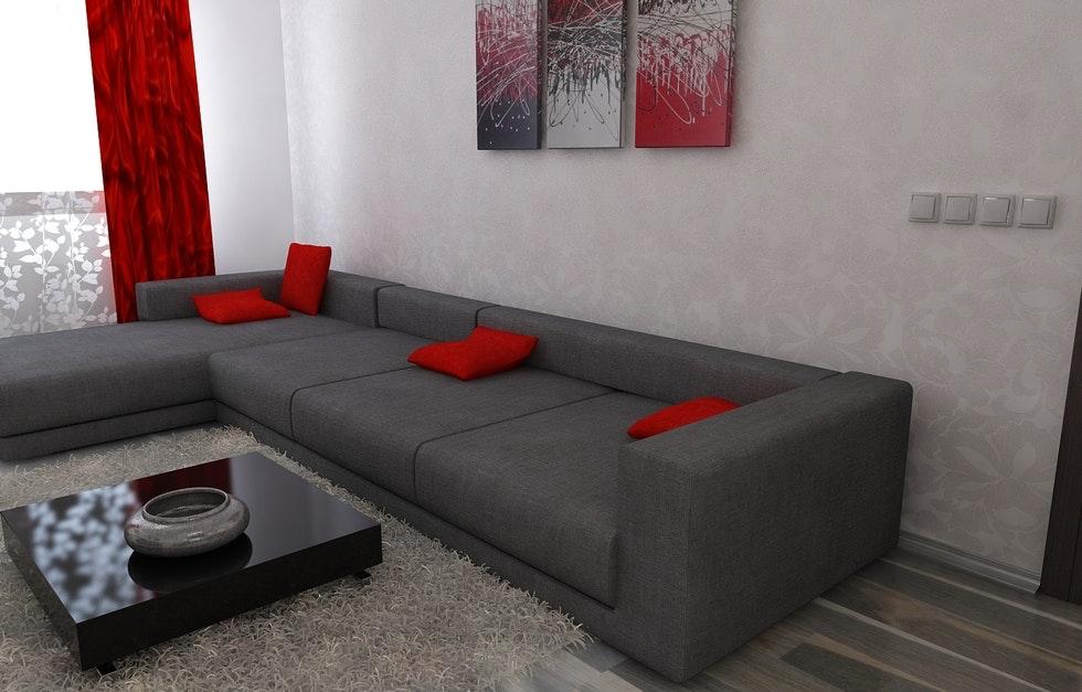 Wandgestaltung Wohnzimmer Grau Rot Unglaublich On Und Bad Bilder 3D Interieur 2 9