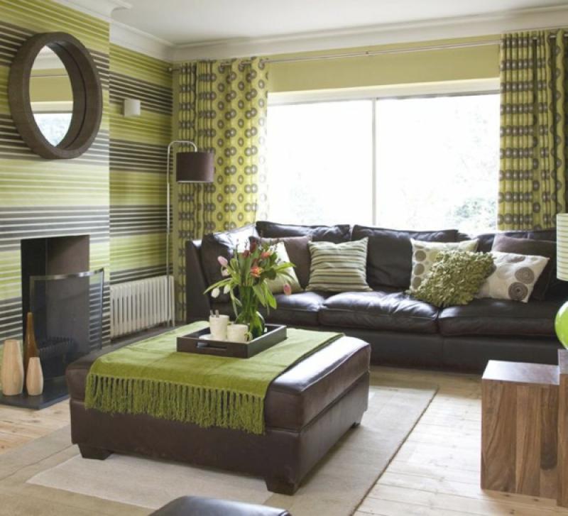 Wandgestaltung Wohnzimmer Grün Braun Beeindruckend On Auf Orange Grau Kstlich Inside Ideen 2