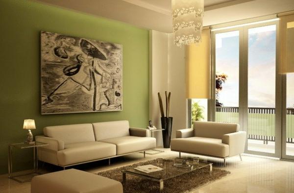 Wandgestaltung Wohnzimmer Grün Braun Frisch On Beabsichtigt Amocasio Com 1