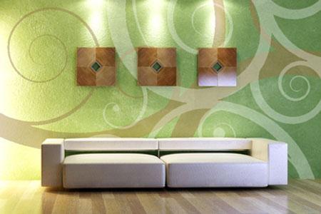 Wandgestaltung Wohnzimmer Grün Braun Interessant On Innerhalb Bewegte Wände Bild 14 LIVING AT HOME 4