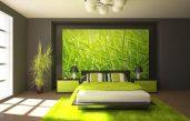 Wandgestaltung Wohnzimmer Grün Braun