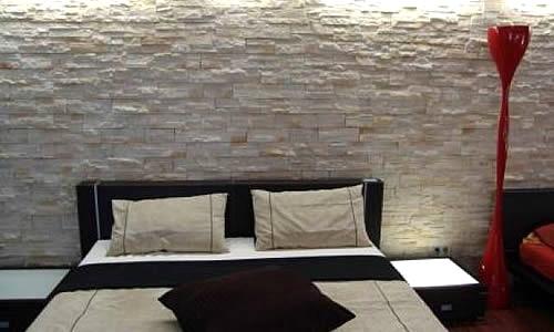 Wandsteine Schlafzimmer Perfekt On Mit Steinwand Design Einfach 2017 4