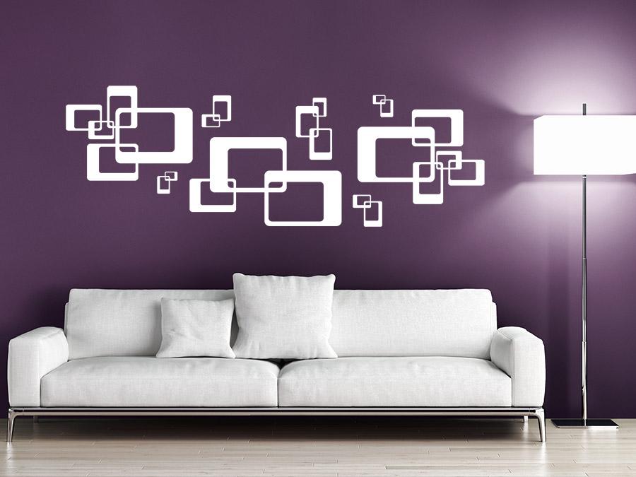 Wandtattoo Braune Wand Charmant On Braun In Bezug Auf Ornament Retro Rechtecke WANDTATTOO DE 6