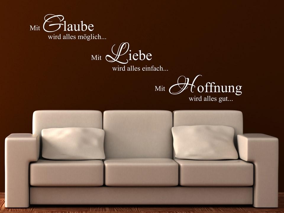 Wandtattoo Braune Wand Interessant On Braun Beabsichtigt Mit Glaube Wird Alles Möglich Liebe 9