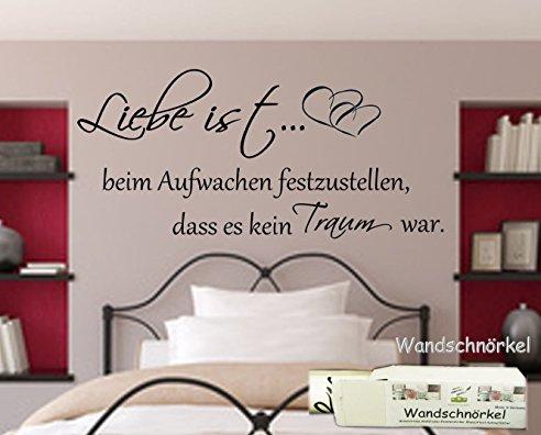 Wandtattoo Schlafzimmer Bescheiden On Beabsichtigt Spruch Liebe Ist Beim Aufwachen 6