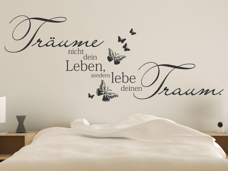 Wandtattoo Schlafzimmer Erstaunlich On Mit Lebe Deinen Traum Wandtattoos De 3