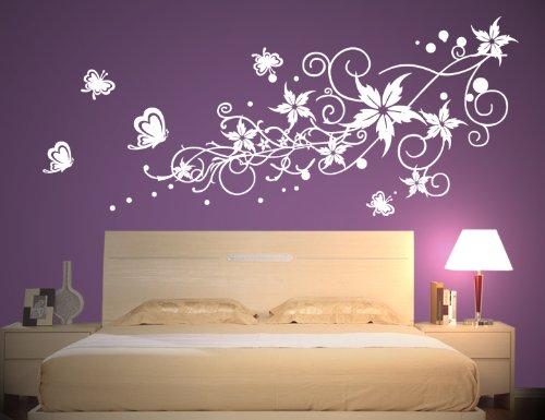 Wandtattoo Weiß Schlafzimmer Modern On In Bezug Auf Wandaufkleber Aufkleber Wandsticker Wall Sticker 8