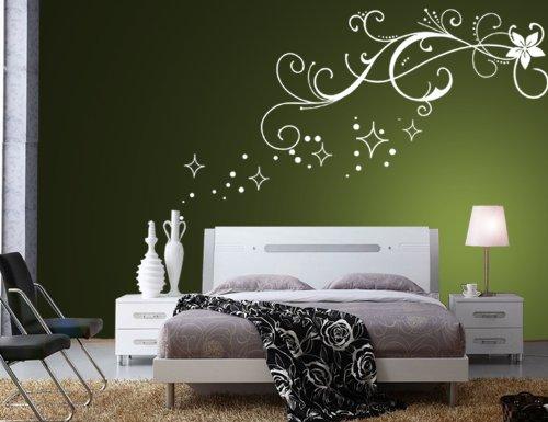 Wandtattoo Weiß Schlafzimmer Nett On In Bezug Auf Wandaufkleber Aufkleber Wandsticker Wall Sticker 3