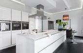 Weiss Küche Mit Kochinsel