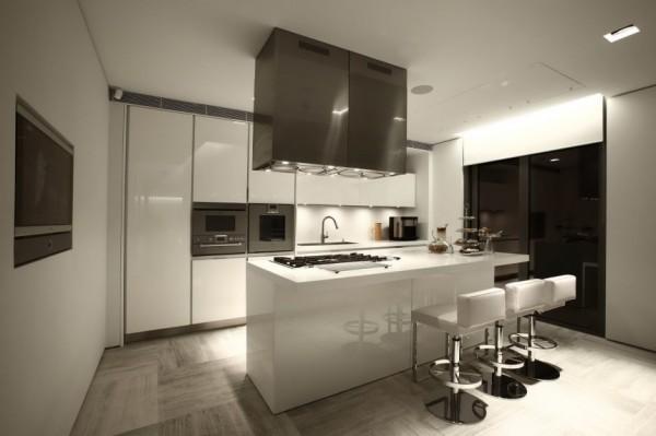 Weiss Küche Mit Kochinsel Unglaublich On Andere Und Interior Design Für Moderne Weiß 8