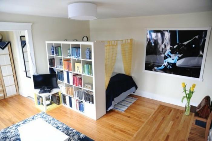 Wohn Und Schlafzimmer Exquisit On Auf In Einem Raum Einrichten Wohndesign 4