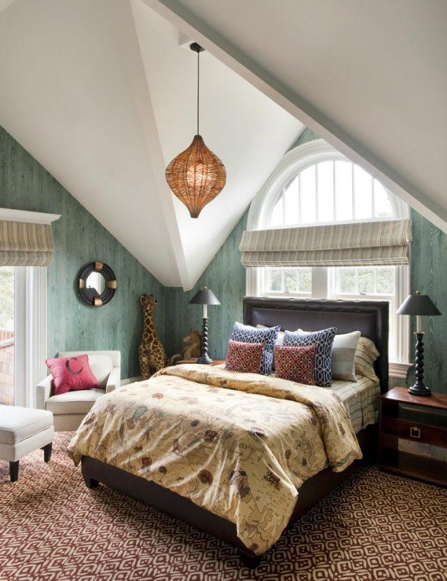Wohnideen Schlafzimmer Mit Schräge Perfekt On Und Modernes Marokkanischem Muster Pendelleuchten Für 5