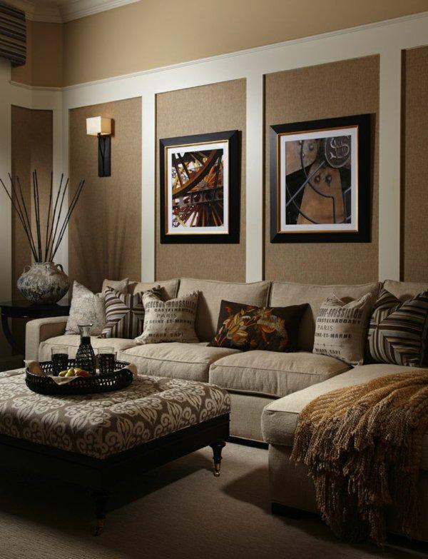 Wohnideen Wohnzimmer Beige Braun Wunderbar On Beabsichtigt Wohndesign 1