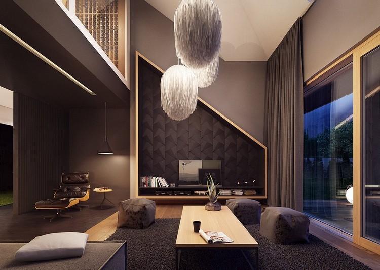 Wohnideen Wohnzimmer Grau Braun Ausgezeichnet On Auf In Und Schwarz Gestalten 50 5
