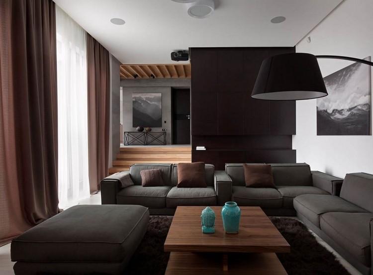 Wohnideen Wohnzimmer Grau Braun Großartig On Für In Und Schwarz Gestalten 50 1